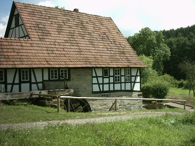Wassermühle Im Hennbergmuseum - Quelle: Wikipedia