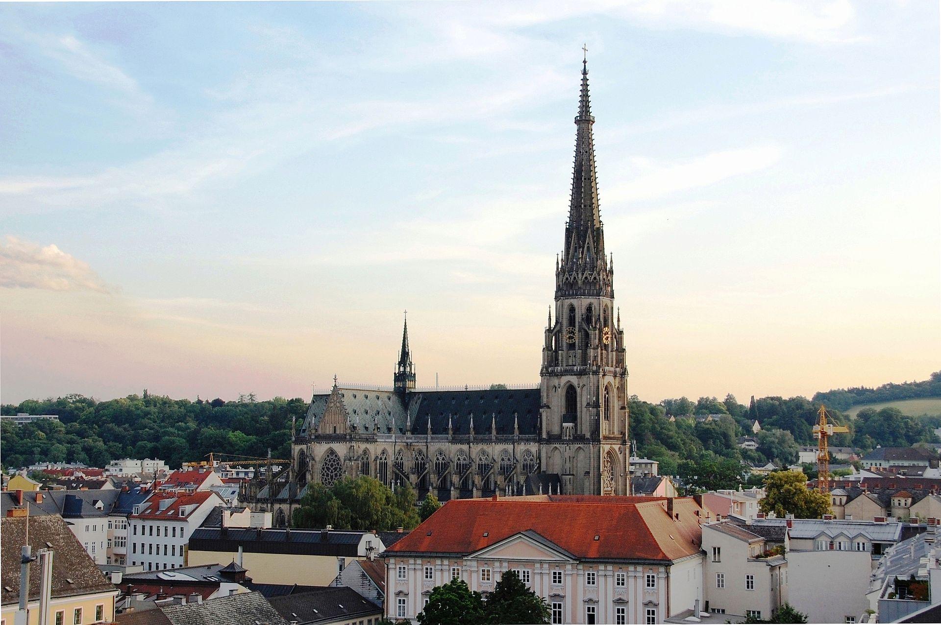 Blick Auf Linz Mit Dom