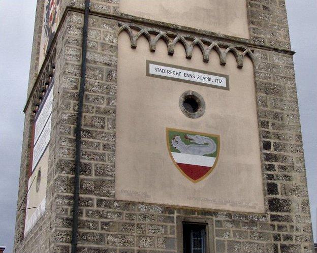 Enns Stadtturm Mit Wappen