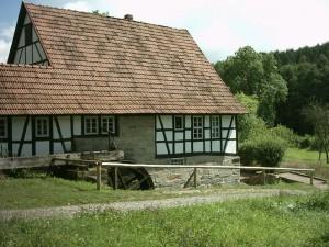Wassermühle im Heuneburgmuseum - Quelle: Wikipedia